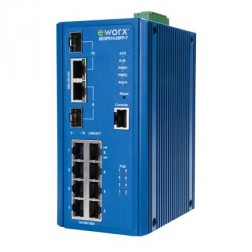 Full Gigabit Managed PoE Ethernet Switch Advantech B+B Smartworx SEGP510-2SFP-T