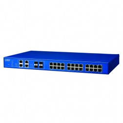 Full L2 Industrial Managed Ethernet Switch Advantech B+B Smartworx SEGP528-4SFP-T