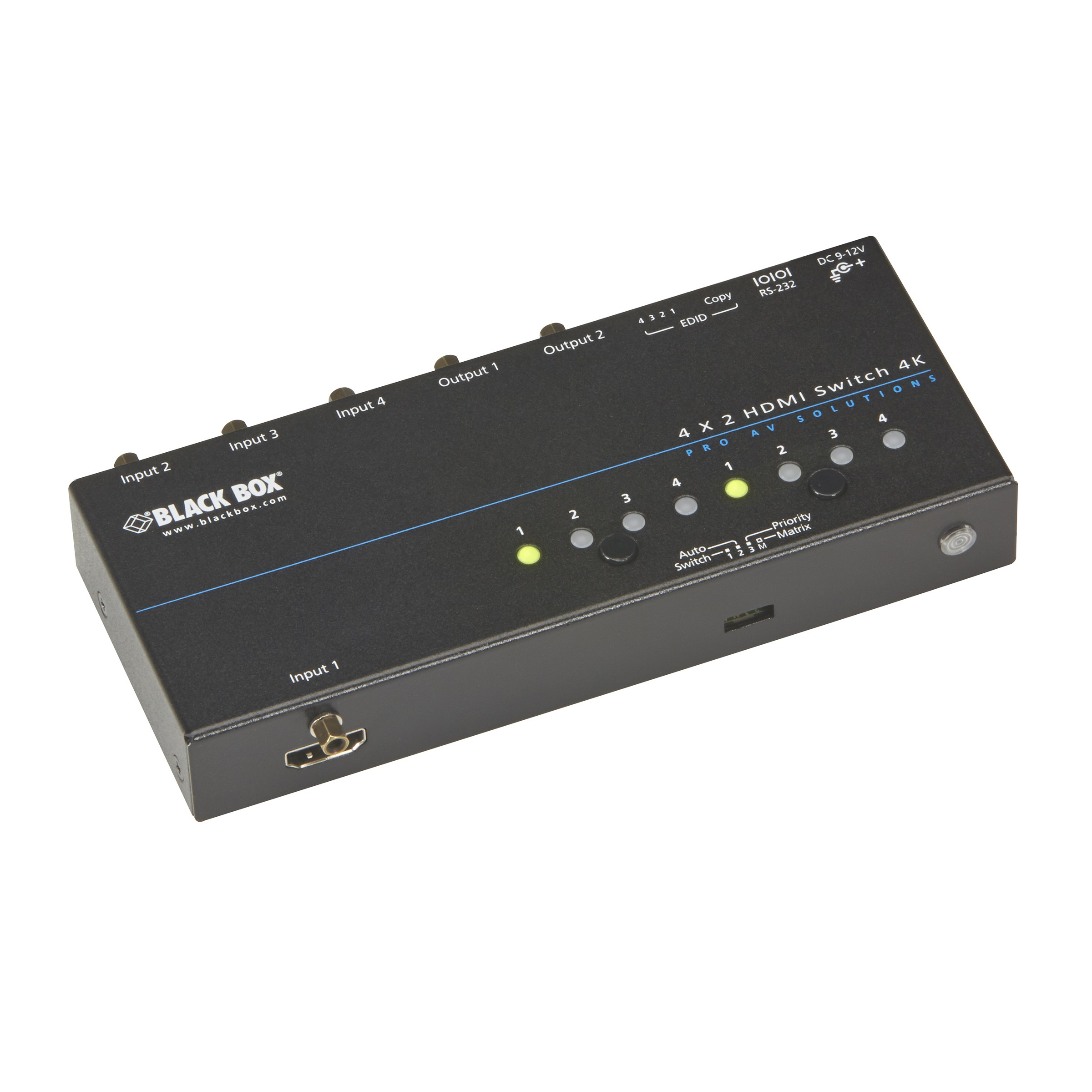Black Box HDMI 4K HDMI Matrix Switch VSW-HDMI4X2-4K